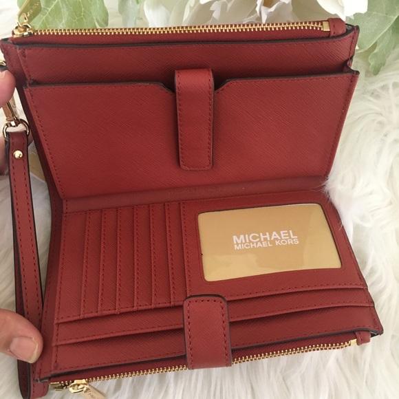 Michael Kors jet set double zipper wallet/wristlet
